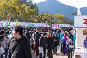 Festival des huitres à Miyajima