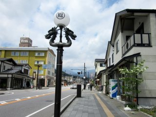 The street from Nikko station where you can find Rondo shop