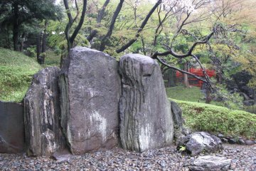 Stones are traditional decoration of Japanese garden