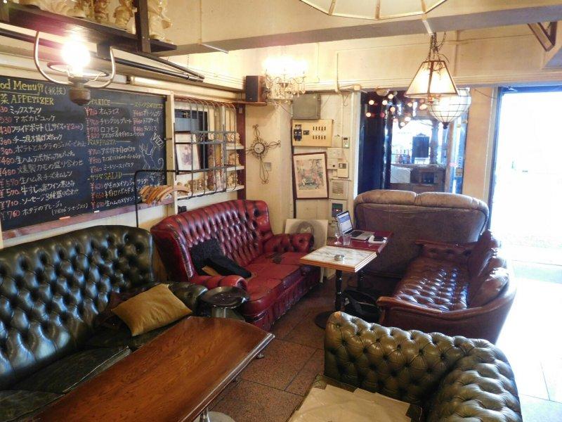Lounge area inside Vizz Cafe