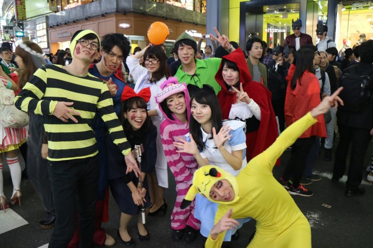 Loucura Halloween 2016 em Shibuya