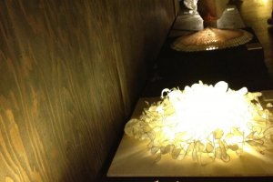 Flower lamps made from washi
