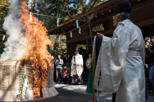 The sacred fire at Kifune Shrine
