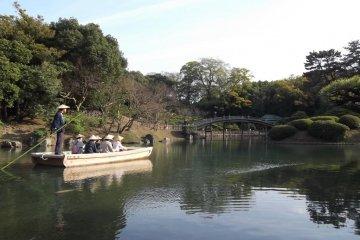 Punting slowly around the lake