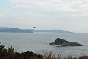 Kites, a kind of sea hawk, comb the coast and circle the bridge