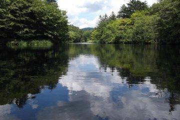 <p>Kumoba Pond, near Karuizawa station</p>