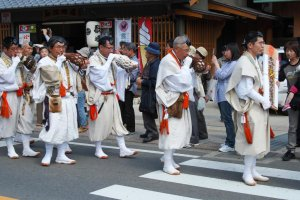 Yamabushi mountain priests play an important role in Kumano's festivals