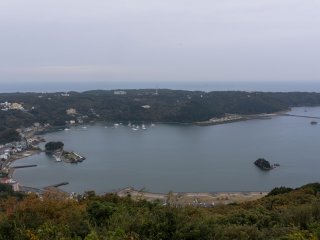 The Shimoda port, a fantastic view of the towns historic site.