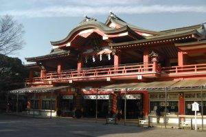 Main hall of the Chiba Shrine