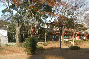 The shrine is located in a park in Chiba City