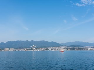 The ferry leaves from the Miyajima port every 10 - 15 minutes.