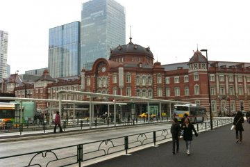 <p>Outside of the Marunouchi South Exit</p>