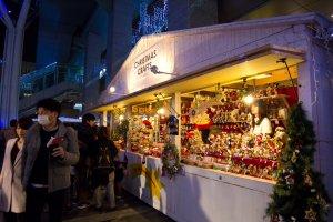 Christmas crafts stall