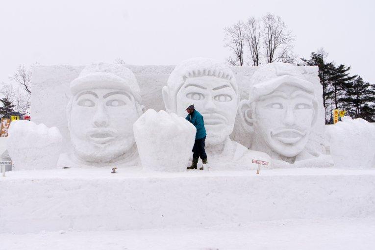 Le festival de la neige d'Iwate