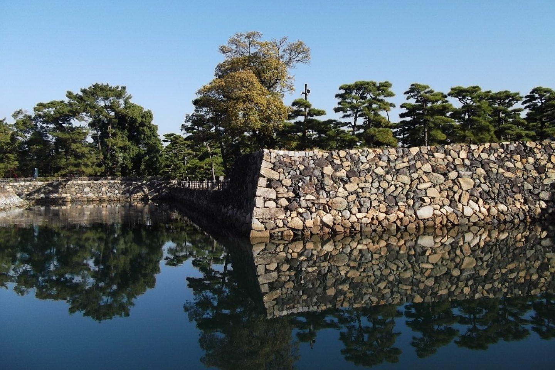 The castle walls at Tamamo Park