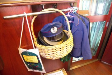 The outfits and hat for kids to try on!