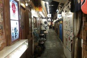 Dining alley under Yurakucho rail tracks, near Ginza
