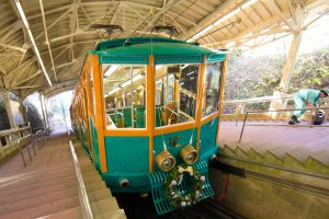 The beautifully designed cable car