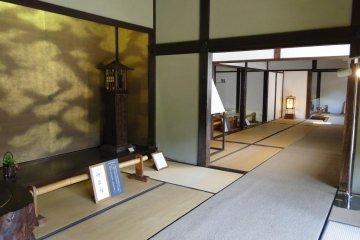 The entryway of the Kyu-Hosokawa samurai residence