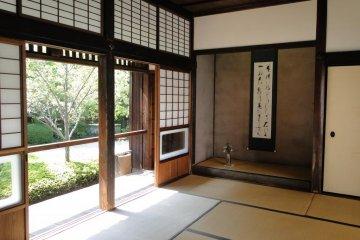 The interior of the Kyu-Hosokawa samurai residence