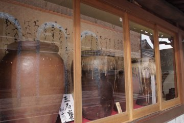 The shops around the station host locally made pottery