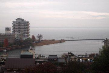 Lake Biwa as seen from Hanakaido Ryokan