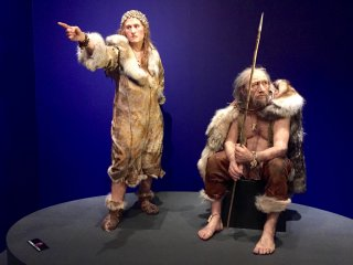 Even Cro-Magnon women liked fashion (pay attention to the headwear with beads)