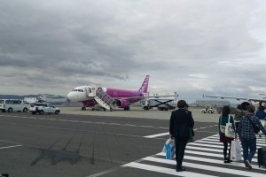 Peach, one of the low cost airlines which serves Matsuyama airport