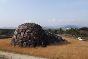 'Time and Space', a Noguchi sculpture at Takamatsu Airport