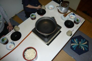 Getting ready to prepare udon