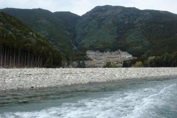 Start of the hovercraft journey on Kumano River