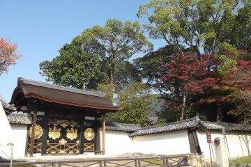 Behind that gate is the Sanboin garden