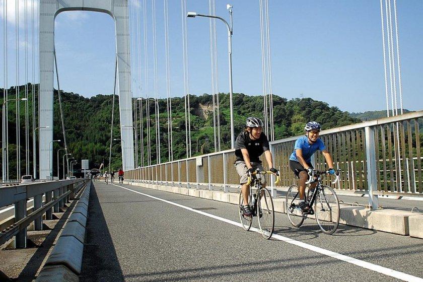 Gentle cycling on the Shimanami Kaido