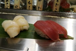 โอตาเตะ (หอยเชลล์) และมากุโร่