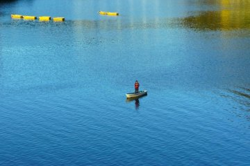 사가미 호수의 낚시 활동