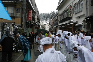 Blessing from the Shinto priest