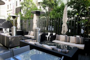 Dining in style—Bonsalute Kabuki's terrace