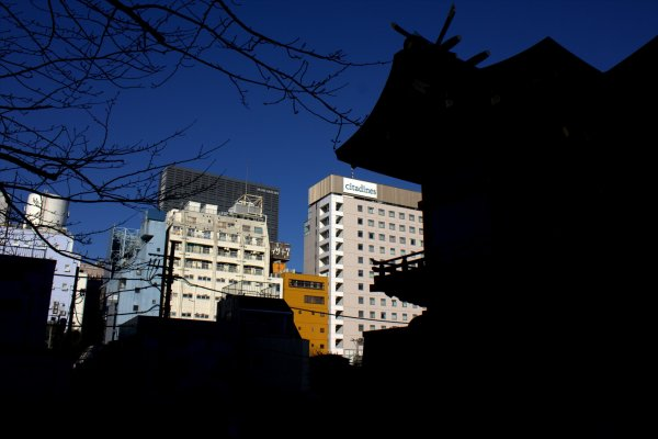 Shinjuku has a mix of modern and traditional architecture in one spot