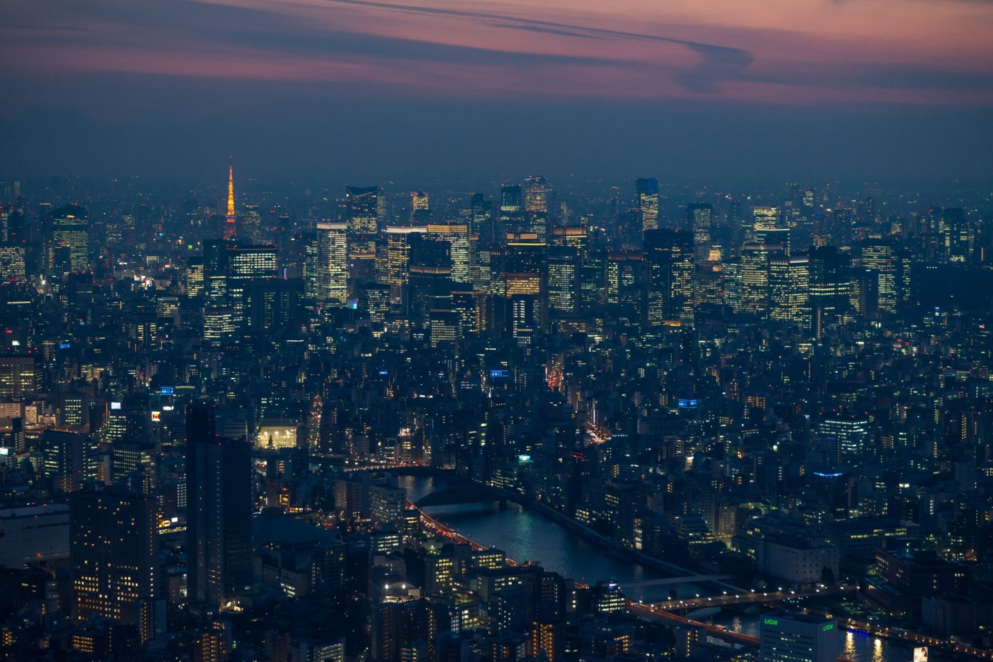 Dusk view from the Tokyo Skytree