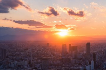 Sunset as seen from the Roppongi Hills Mori Tower
