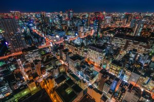 The concrete jungle of Tokyo, as seen from the Tokyo World Trade Center