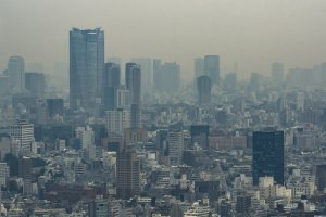 A hazy day from the Tokyo Metropolitan Government Building