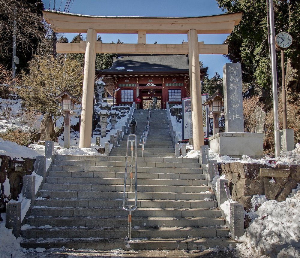 It's difficult to miss the main gate for this shrine