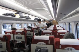 Train travel in Japan is a comfortable experience