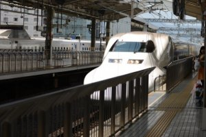 A shinkansen in the station