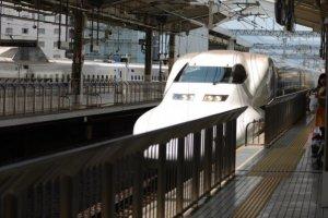A shinkansen in the station