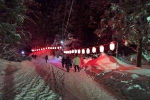 The way to the Sedo shrine near the Namahage festival