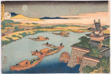 <p>Hokusai&#39;s &#39;Boats and Moon&#39;</p>
