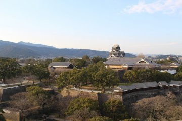 View of Kumamoto Castle from Kumamoto City Hall