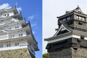 姫路城と熊本城